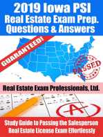 2019 Iowa PSI Real Estate Exam Prep Questions, Answers & Explanations