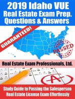 2019 Idaho VUE Real Estate Exam Prep Questions, Answers & Explanations