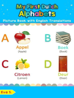 My First Dutch Alphabets Picture Book with English Translations