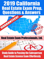 2019 California Real Estate Exam Prep Questions, Answers & Explanations
