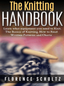 The Knitting Handbook. Learn what equipment you need to Knit, The Basics of Knitting, Hot to Read Written Patterns and Charts