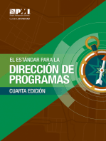 El Estándar para la Dirección de Programas – Cuarta Edición