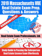 2019 Massachusetts VUE Real Estate Exam Prep Questions, Answers & Explanations