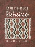 English–Maori, Maori–English Dictionary