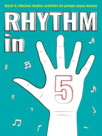 Rhythm in 5: Quick & Effective Rhythm Activities for Private Music Lessons: Books for music teachers, #2