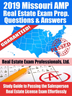 2019 Missouri AMP Real Estate Exam Prep Questions, Answers & Explanations