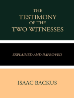 The Testimony of the Two Witnesses