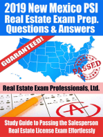 2019 New Mexico PSI Real Estate Exam Prep Questions, Answers & Explanations