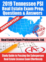 2019 Tennessee PSI Real Estate Exam Prep Questions, Answers & Explanations