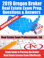2019 Oregon Broker Real Estate Exam Prep Questions, Answers & Explanations