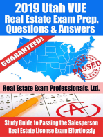 2019 Utah VUE Real Estate Exam Prep Questions, Answers & Explanations