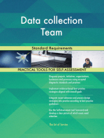 Data collection Team Standard Requirements