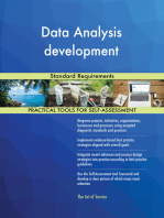 Data Analysis development Standard Requirements