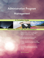 Administration Program Management A Complete Guide