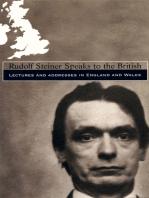 Rudolf Steiner Speaks to the British