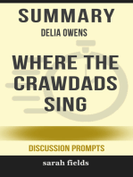 Summary of Where the Crawdads Sing Delia Owens (Discussion Prompts)