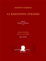 La baronessa stramba (Partitura - Full Score)