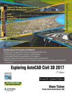 Exploring AutoCAD Civil 3D 2017 , 7th Edition