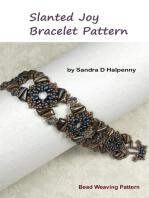 Slanted Joy Bracelet Pattern