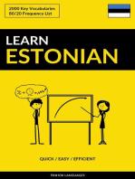 Learn Estonian