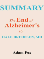 Summary Of The End Of Alzheimer's by Dale E. Bredesen, MD