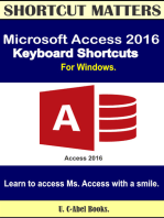 Microsoft Access 2016 Keyboard Shortcuts For Windows