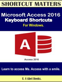 Microsoft Access 2016 Keyboard Shortcuts For Windows