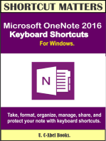 Microsoft OneNote 2016 Keyboard Shortcuts For Windows