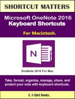 Microsoft OneNote 2016 Keyboard Shortcuts For Macintosh