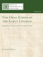 The Oral Ethos of the Early Church