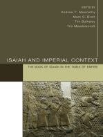 Isaiah and Imperial Context: The Book of Isaiah in the Times of Empire