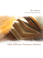 How Effective Sermons Advance