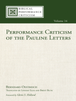 Performance Criticism of the Pauline Letters