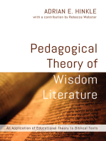 Pedagogical Theory of Wisdom Literature