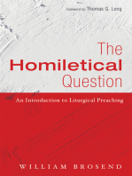 The Homiletical Question