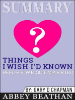 Summary of Things I Wish I'd Known Before We Got Married by Gary Chapman