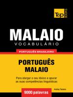 Vocabulário Português Brasileiro-Malaio: 9000 Palavras