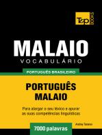 Vocabulário Português Brasileiro-Malaio: 7000 Palavras