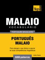 Vocabulário Português Brasileiro-Malaio: 5000 Palavras