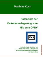 Potenziale der Verkehrsverlagerung vom MIV zum ÖPNV
