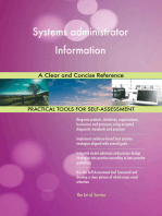 Systems administrator Information A Clear and Concise Reference
