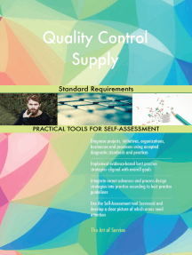 Quality Control Supply Standard Requirements