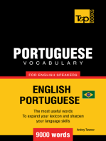Brazilian Portuguese Vocabulary for English Speakers: 9000 Words