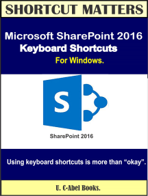 Microsoft SharePoint 2016 Keyboard Shortcuts For Windows