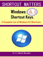 Windows 8.1 Shortcut Keys