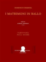 I matrimoni in ballo (Partitura - Full Score)