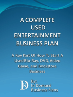 A Complete Used Entertainment Store Business Plan
