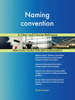 Naming convention A Clear and Concise Reference