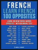 French - Learn French - 100 Opposites