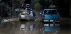 Russian River Floods In California's Sonoma County, Turning Town Of Guerneville Into Virtual Island